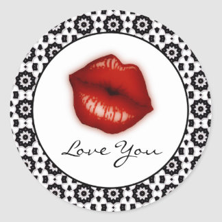 Love You: Lips Stickers