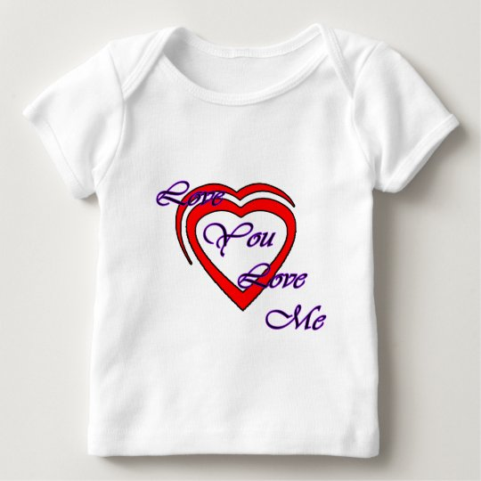 Love You Love Me Purple Hearts Red The MUSEUM Zazz Baby T-Shirt