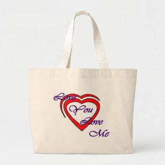 Love You Love Me Purple Hearts Red The MUSEUM Zazz Jumbo Tote Bag