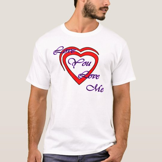 Love You Love Me Purple Hearts Red The MUSEUM Zazz T-Shirt