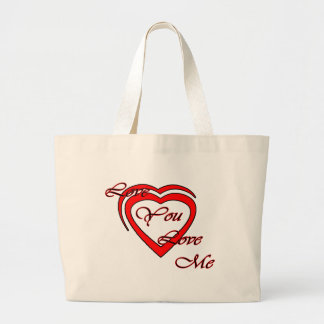 Love You Love Me Red Hearts Red The MUSEUM Zazz Jumbo Tote Bag