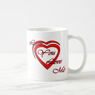 Love You Love Me Red Hearts Red The MUSEUM Zazz Coffee Mug