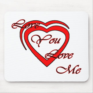 Love You Love Me Red Hearts Red The MUSEUM Zazz Mouse Pad