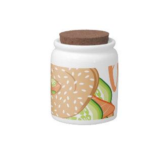 Love You Lox Candy Jar