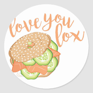 Love You Lox Classic Round Sticker