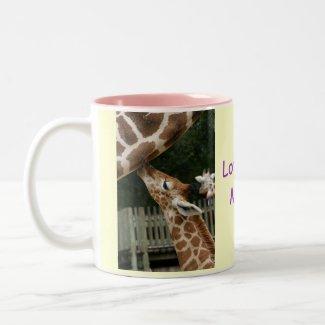 Love You Mama Giraffe Mug mug