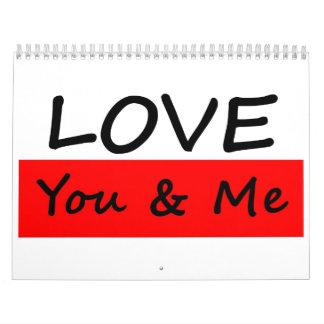 Love You & Me Calendar