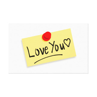 Love you memo gallery wrapped canvas