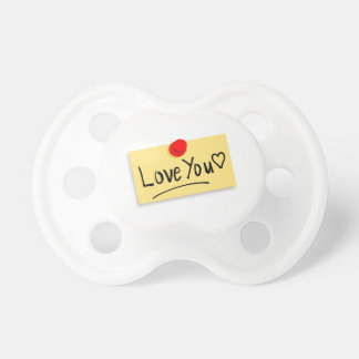 Love you memo baby pacifier
