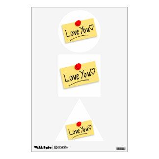 Love you memo room sticker
