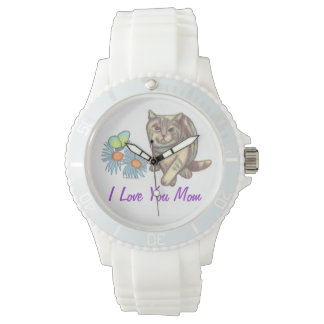 Love You Mom Cat Watch
