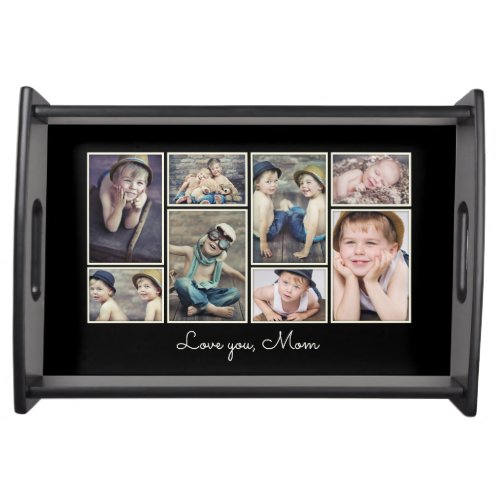Love You Mom Framed Photo Collage Tray