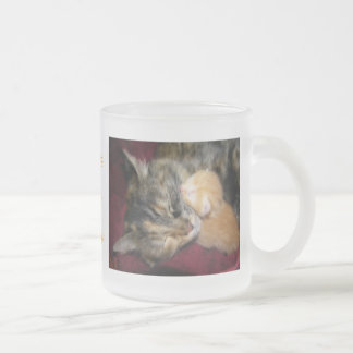 Love You Mom Frosted Glass Coffee Mug