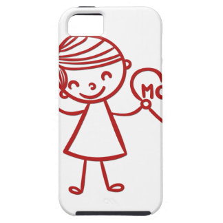 Love you mom girl with heart iPhone SE/5/5s case