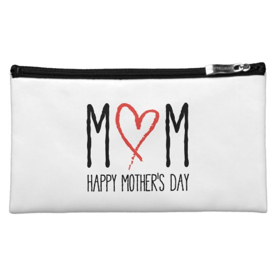 love you mom, happy mother's day makeup bag