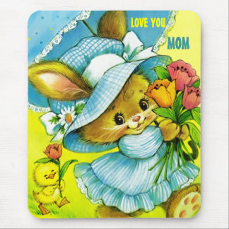 Love You, Mom. Mother's Day Gift Mousepads