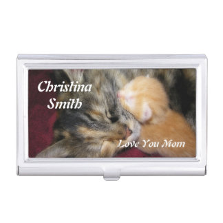 Love You Mom Case For Business Cards