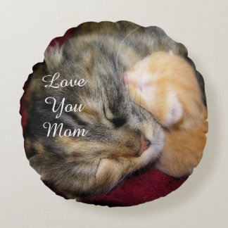 Love You Mom Round Pillow