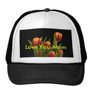 Love You Mom - Tulips The MUSEUM Zazzle Mesh Hat
