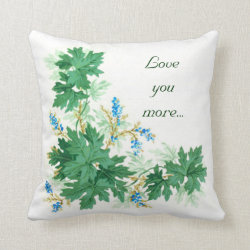 Love you more...Always Pillow Throw