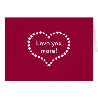 Love You More! Card