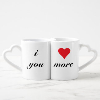 Love You more Heart Mug Set