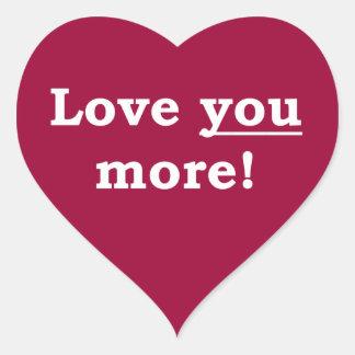 Love You More! Heart Sticker