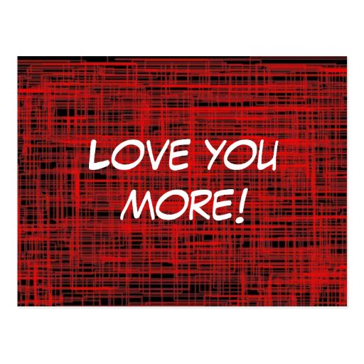 Love You More! Postcard