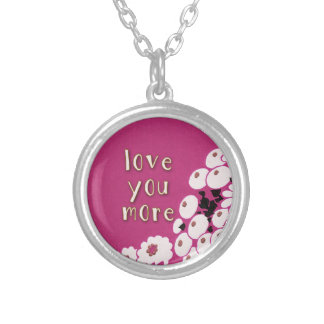 Love You More Silver Plated Necklace