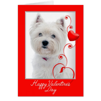 Love You More! Westie Valentine Card