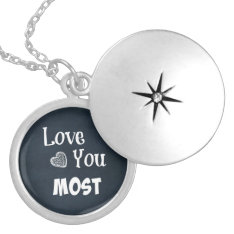 Love You Most Locket Necklace at Zazzle
