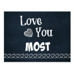 Love You Most Postcard