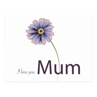 Love You Mum Postcard