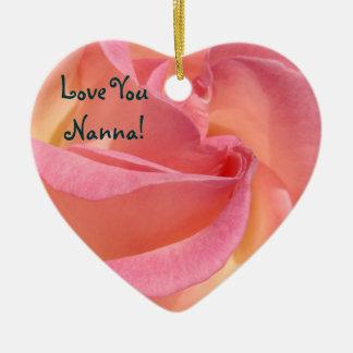 Love You Nanna! gifts Ornaments Holiday Rose Tulip