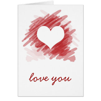 Love You Note Stationery Note Card