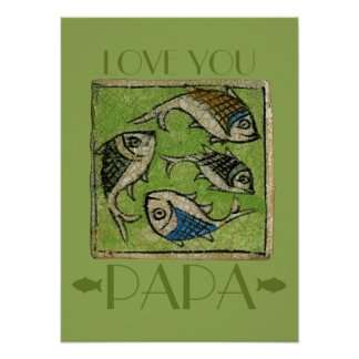 Love You Papa Father's Day Print