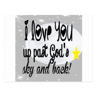 Love you past God's Sky Postcard