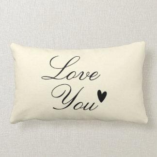"""Love You"" Personalized Text Design Lumbar Pillow"