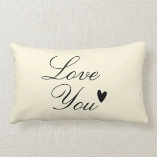 """Love You"" Personalized Text Design Throw Pillow"
