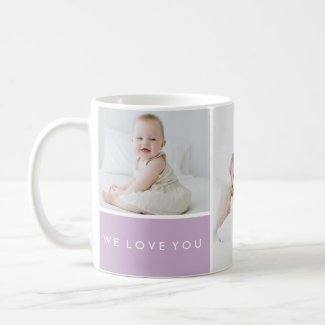 Love You Photo Collage Coffee Mug