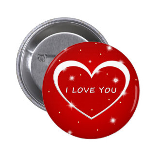 Love you pinback button