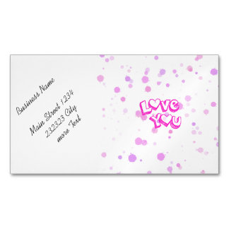 Love you, pink magnetic business card