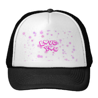 Love you, pink trucker hat