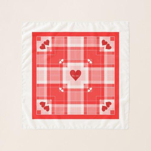 Love You! Plaid Square Chiffon Scarf
