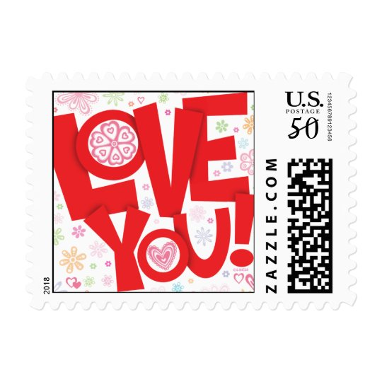 Love You! Postage stamp