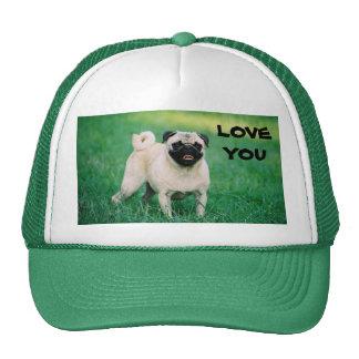 LOVE YOU PUG CAP TRUCKER HAT
