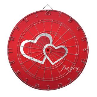Love You Red Valentine Love Background Design Dart Board