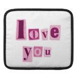 Love You Rickshaw iPad Sleeve