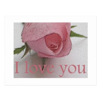 Love you rose card
