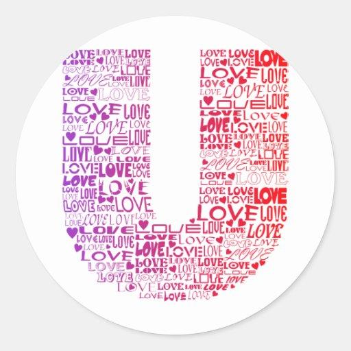 Love You Round Sticker
